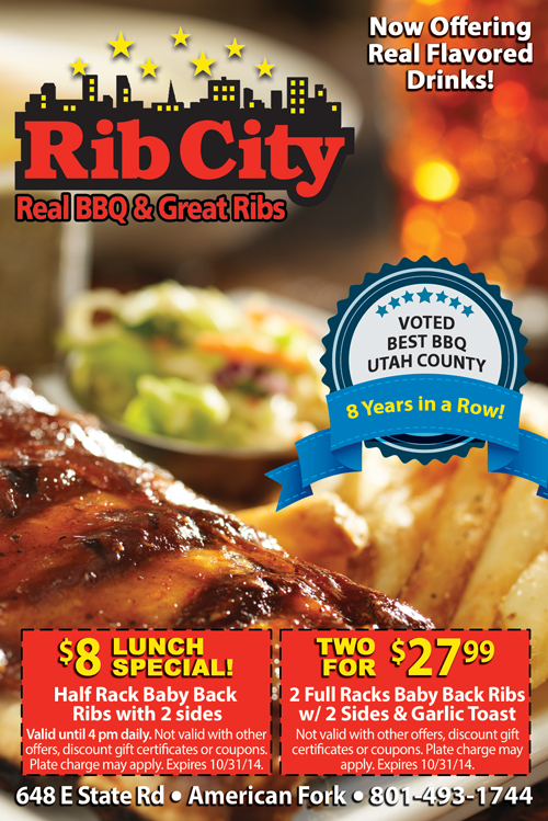 Rib City Lunch and Dinner Specials